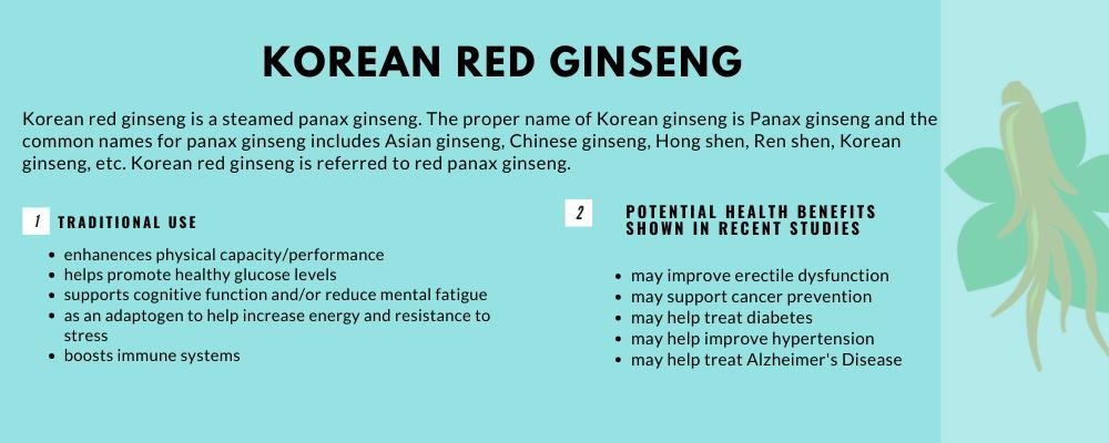 health benefits of korean red ginseng